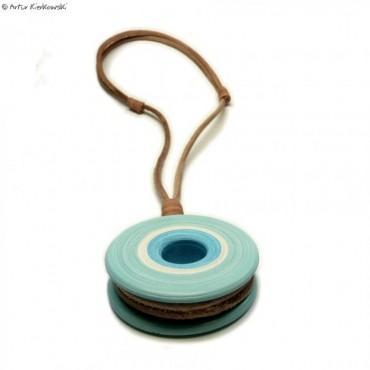 Naszyjnik Koło niebieski