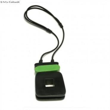 Naszyjnik Kwadrat czarno-zielony
