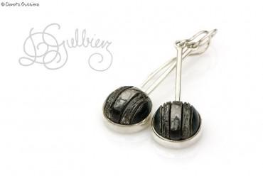 Platinium - srebrne kolczyki z ceramiką