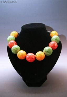 Korale ceramiczne Trzy kolory