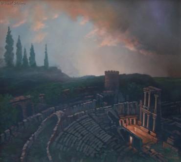 STRAŻNIK SŁOWA - obraz olejny Józefa Stolorza