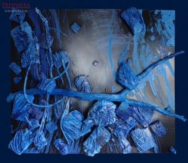 Niebieska kompozycja przestrzenna