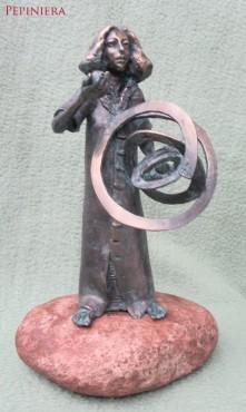 Kopernik - rzeźba z brązu