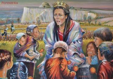 Królowa Jadwiga i sieroty