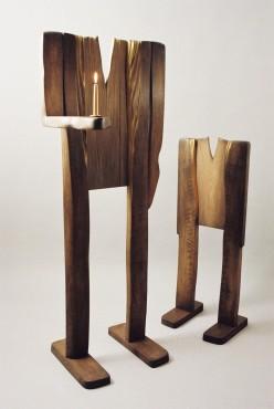 Rzeźba / Świecznik  Ludzie lasu