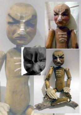Zwierzak - lalka drewniana