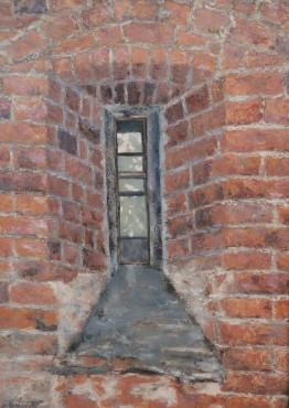 Zabytkowe okno z Małachowianki w Płocku