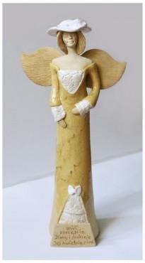 Anioł ślubny z dedykacją