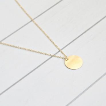 Delikatny naszyjnik z wisiorkiem - Coin Charm - ręcznie robiony