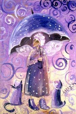 Anioł z parasolem