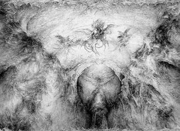 Cherub ino et flameo, rysunek piórkiem