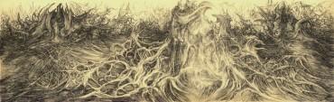 Świątynia Tortur - rysunek piórkiem