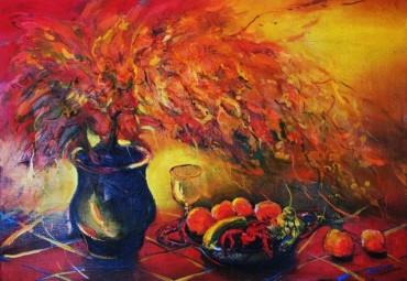 Martwa natura grecka - obraz olejny na płótnie