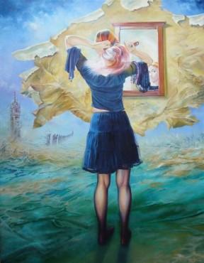 Rozgrzeszenie - obraz olejny na płótnie