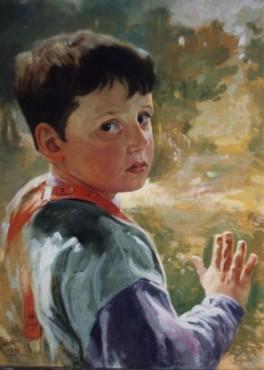 Chłopczyk, obraz Dariusza Kalety