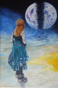 Księżycowe noce - obraz olejny