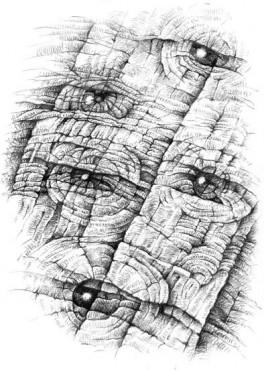 Oczy II - grafika cyfrowa