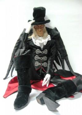 Czarny Hrabia - lalka na zamówienie
