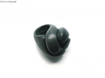 Pierścień ETER - w odcieniu czarnym