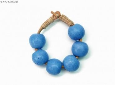 """Niebieska bransoleta """"Kule-Minimal"""""""