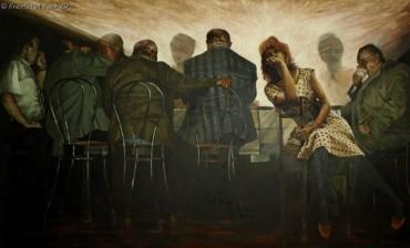 Muza opuszczona I - Problemy malarstwa - obraz olejny