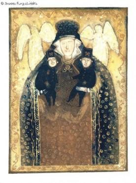Święta Barbara - litografia barwna dwa egzemplarze
