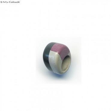 Pierścień kolor czarny-popiel-fiolet