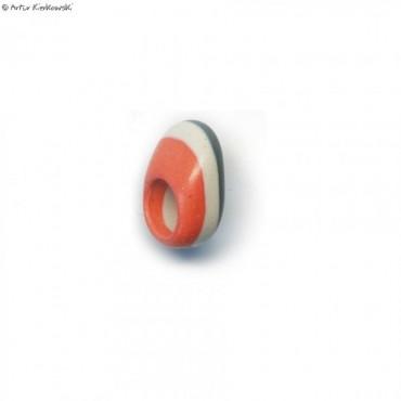 Pierścień kolor pomarańcz-biały-szary
