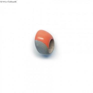 Pierścień kolor jasny szary i pomarańcz