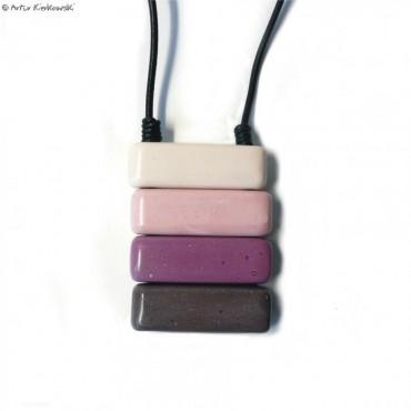 Naszyjnik MinoMal w odcieniach fioletu