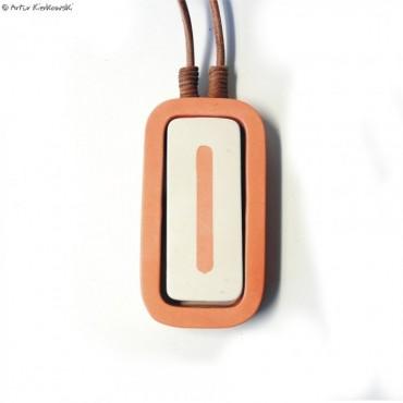 Naszyjnik Minimal pomarańczowo-biały