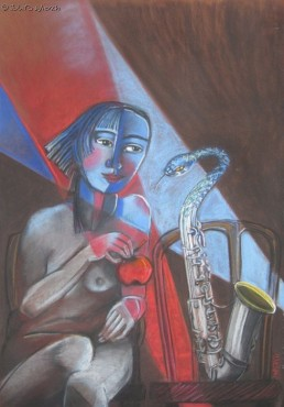 Jazzowa noc - pastel