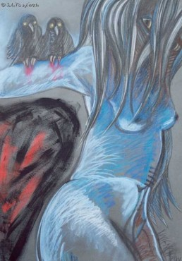 Serce - dyptyk, część II - pastel