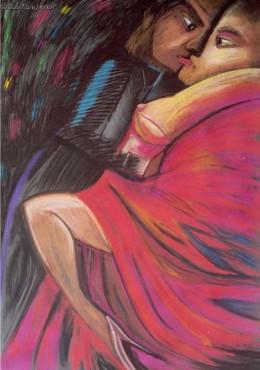 Tańczący I - pastel