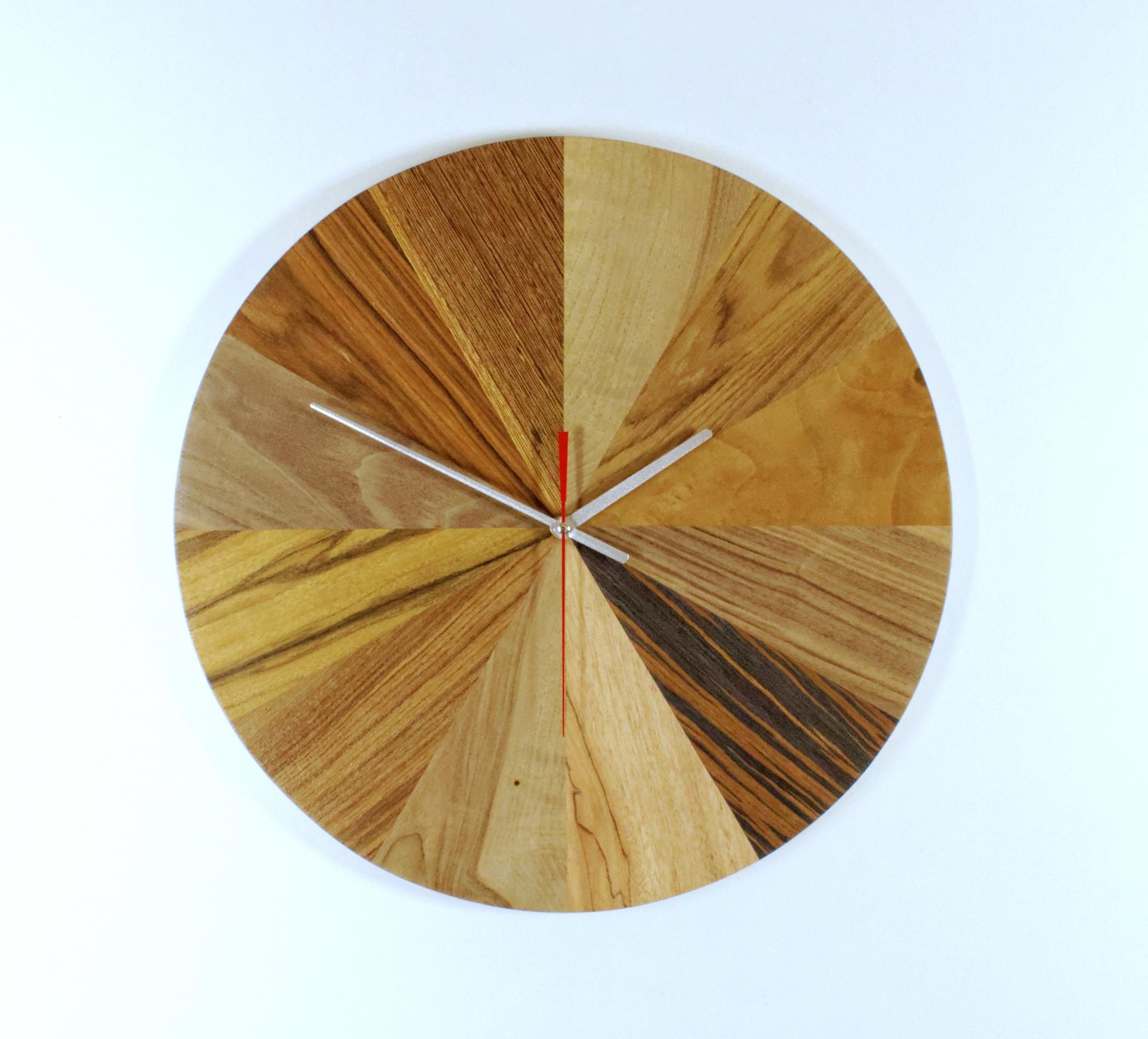 Duży wiszący zegar Paleta barw.  Ø 45 cm.