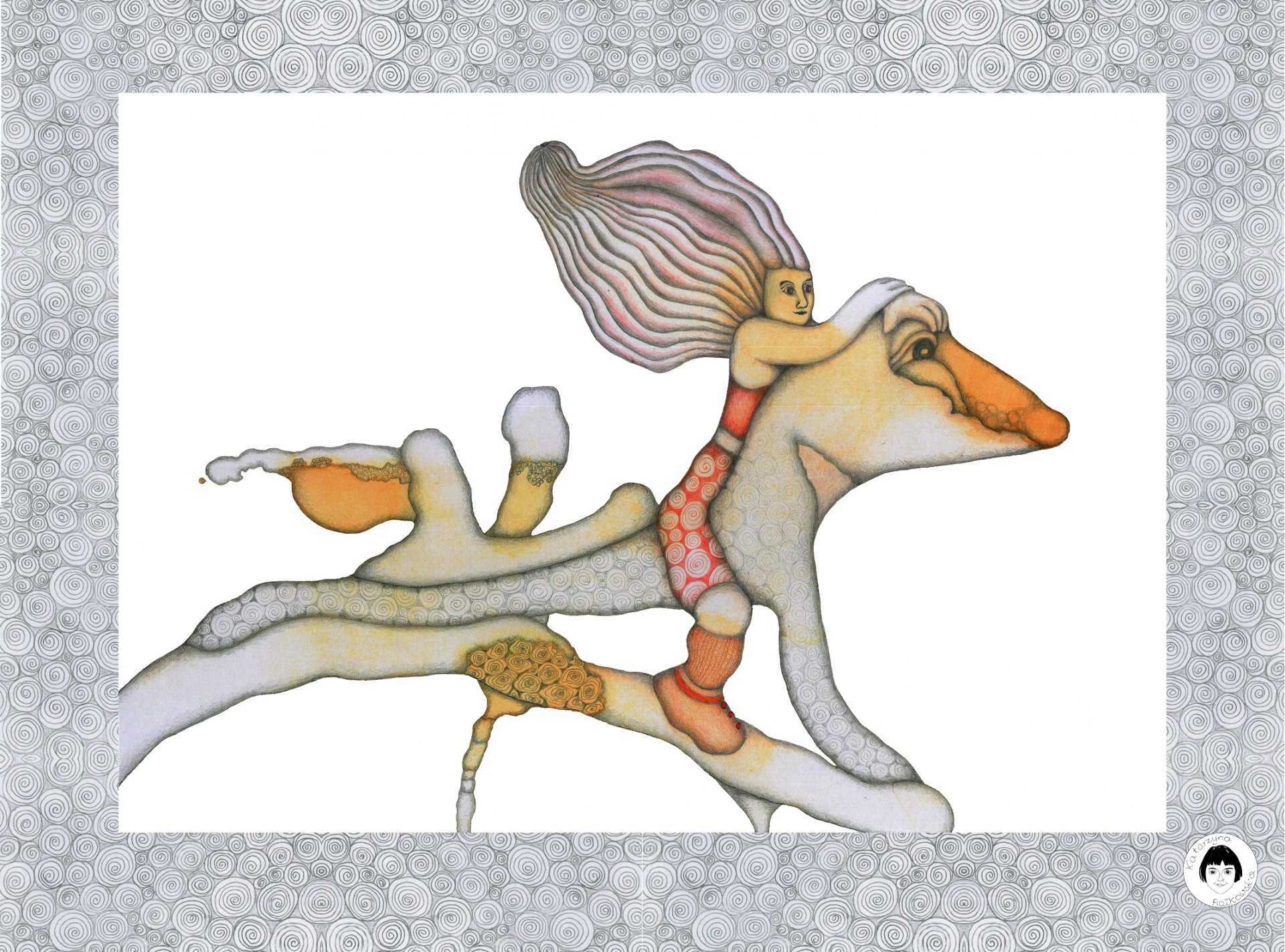 Baba i Jaszczur - plakat / reprodukcja