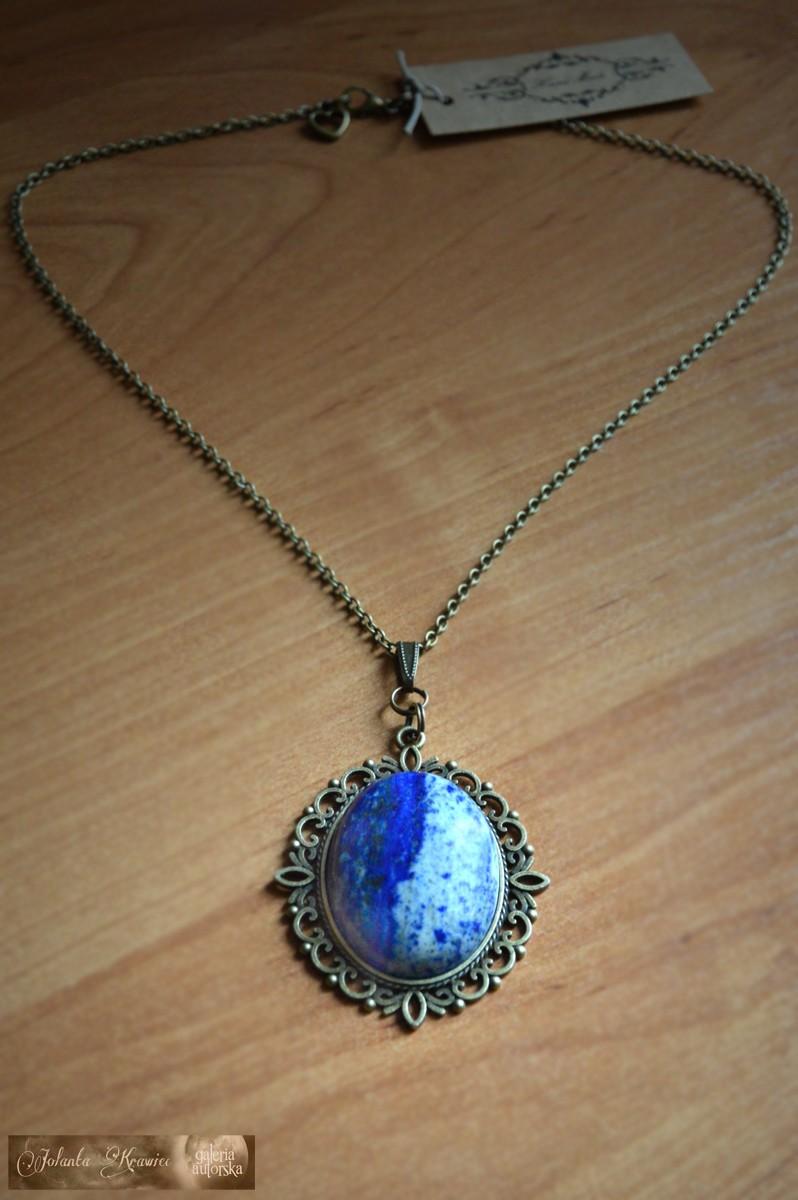 Lapis Lazuli Vintage Wisior