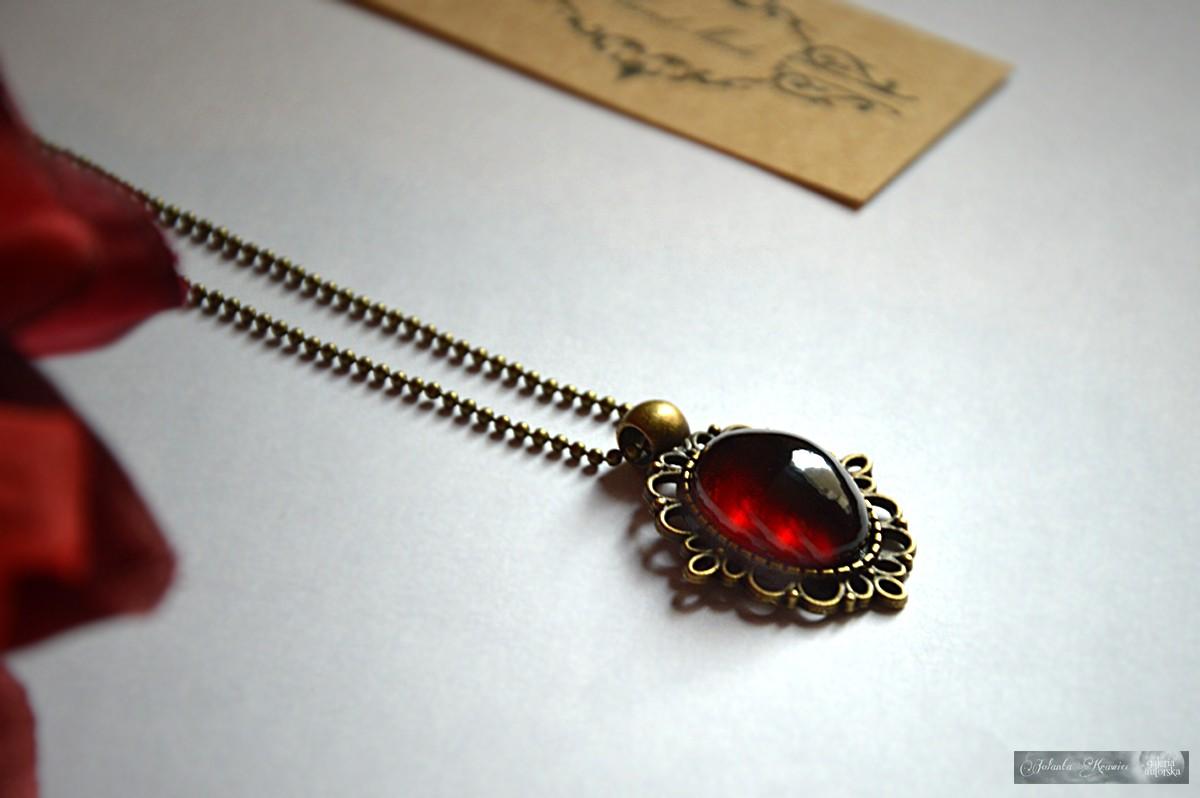 Granat Hessonit ze Sri Lanki  Medalion vintage