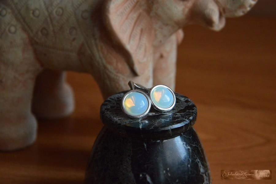 Opal niebieski  Kolekcja baśniowa  Kolczyki  Srebro