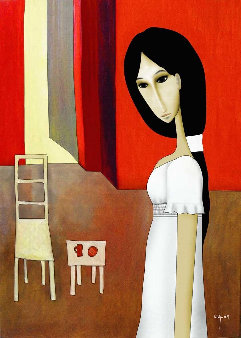 Natasza i Krzesło... - Giclee