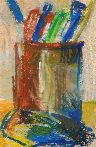 kubek z flamastrami