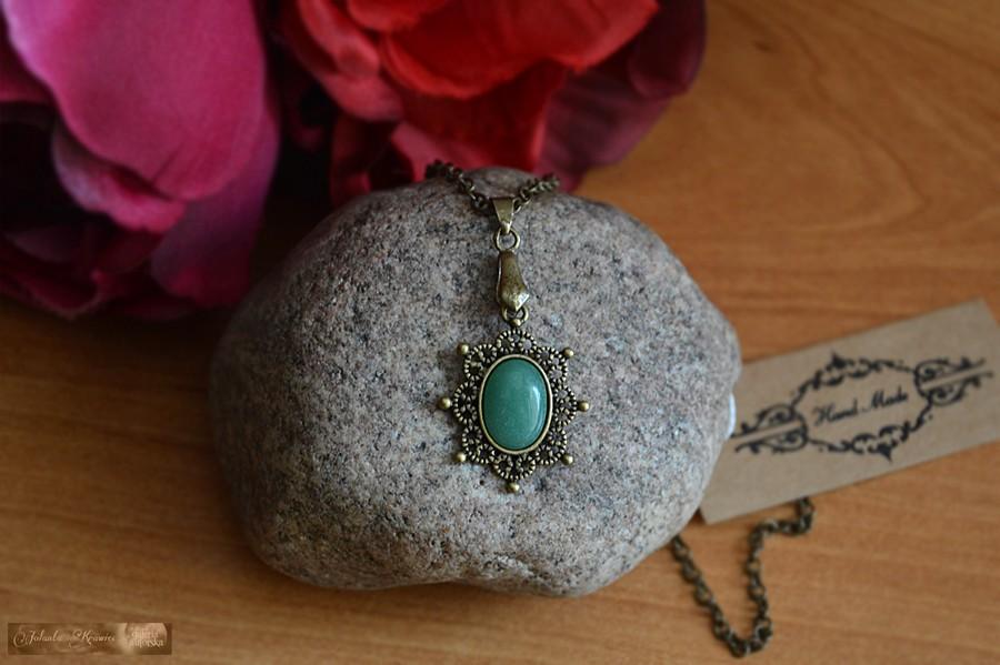 Awenturyn z Uralu  Kolekcja vintage Medalion