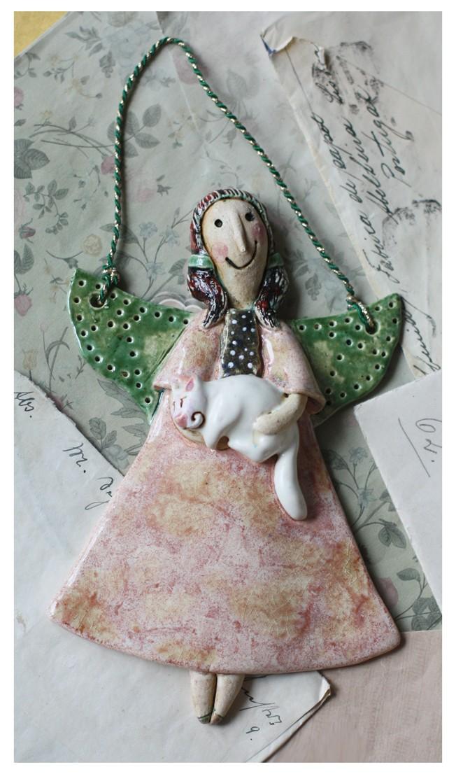 Aniołek z kotem