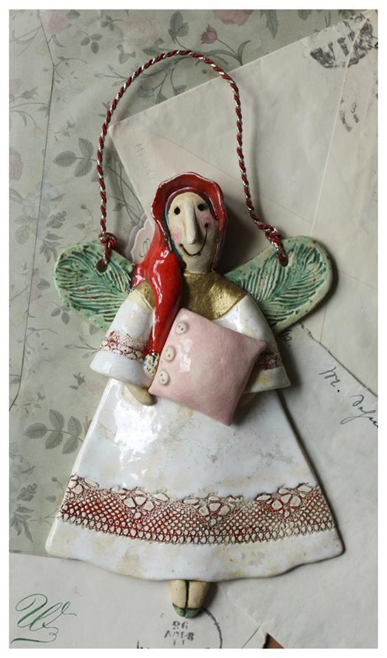 Aniołek z poduszką