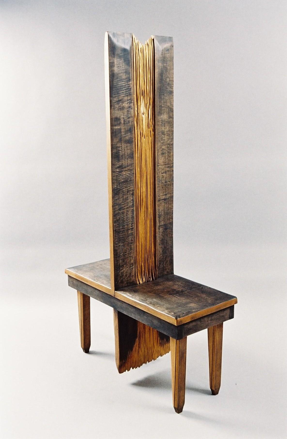 Krzesło podwójne, objekt, rzeżba