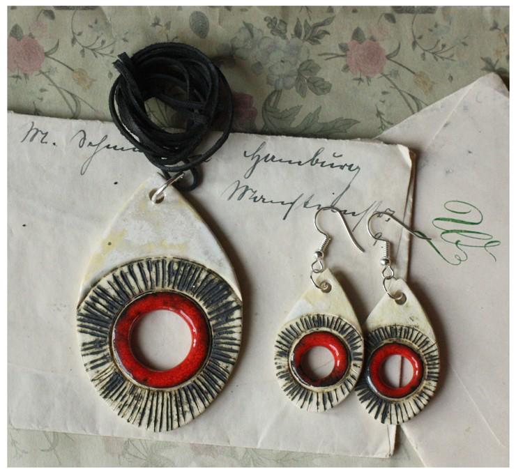 Zestaw biżuterii łezka