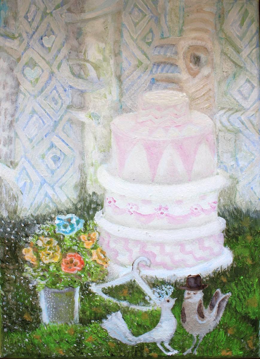 Ślubny z tortem