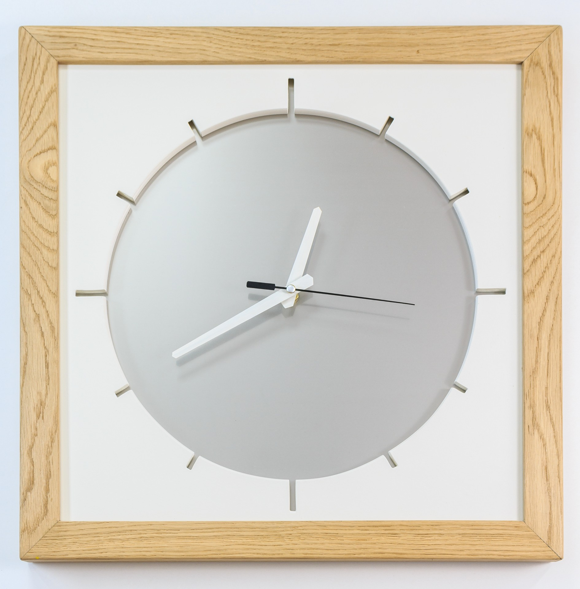 Duży zegar KSIĘŻYC. Zegar ścienny. Cichy, płynący mechanizm