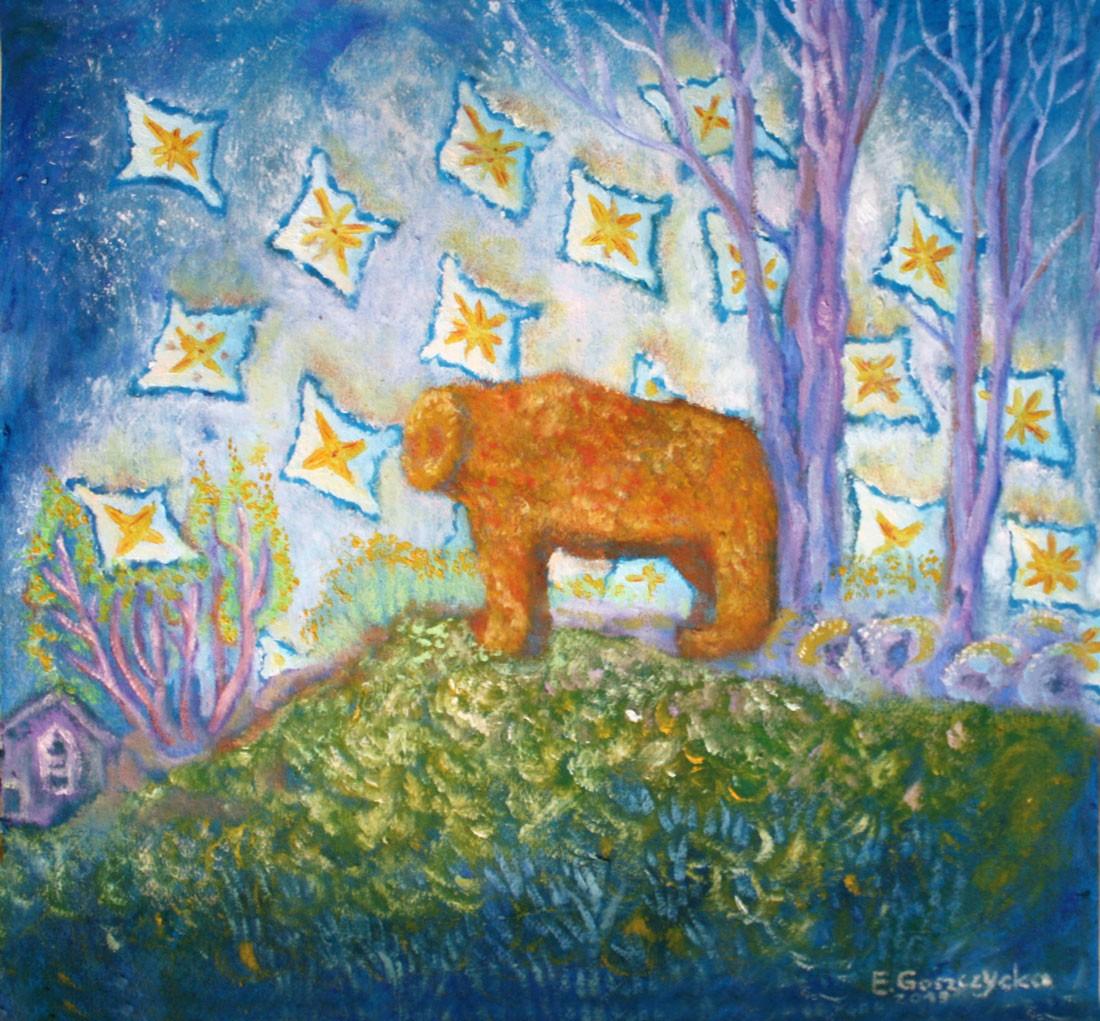Portret niedźwiedzicy ze Ślęży