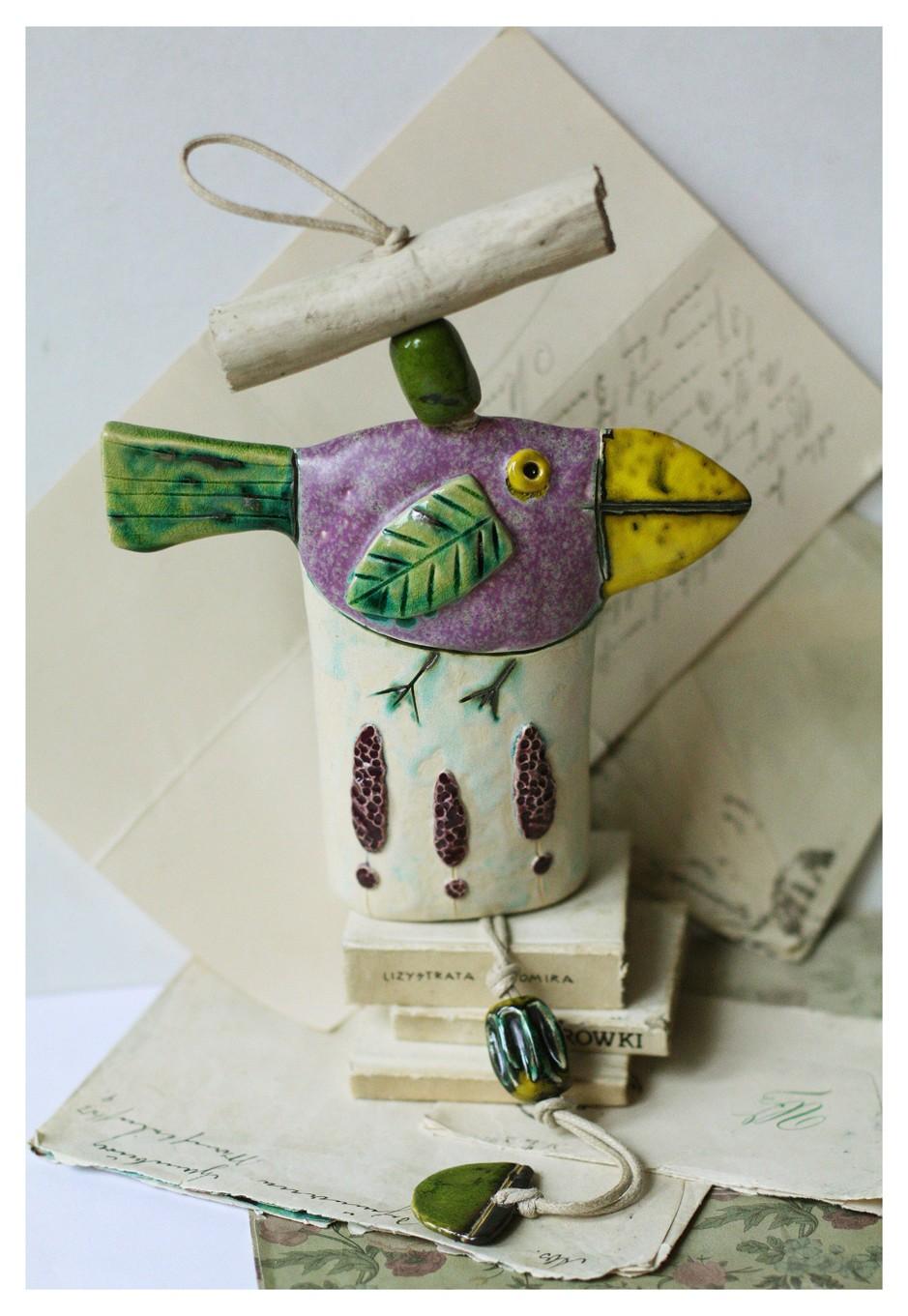 Dzwonek lawendowy ptak
